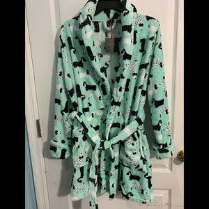 Cynthia Rowley Plush Doxie Robe NWT Medium